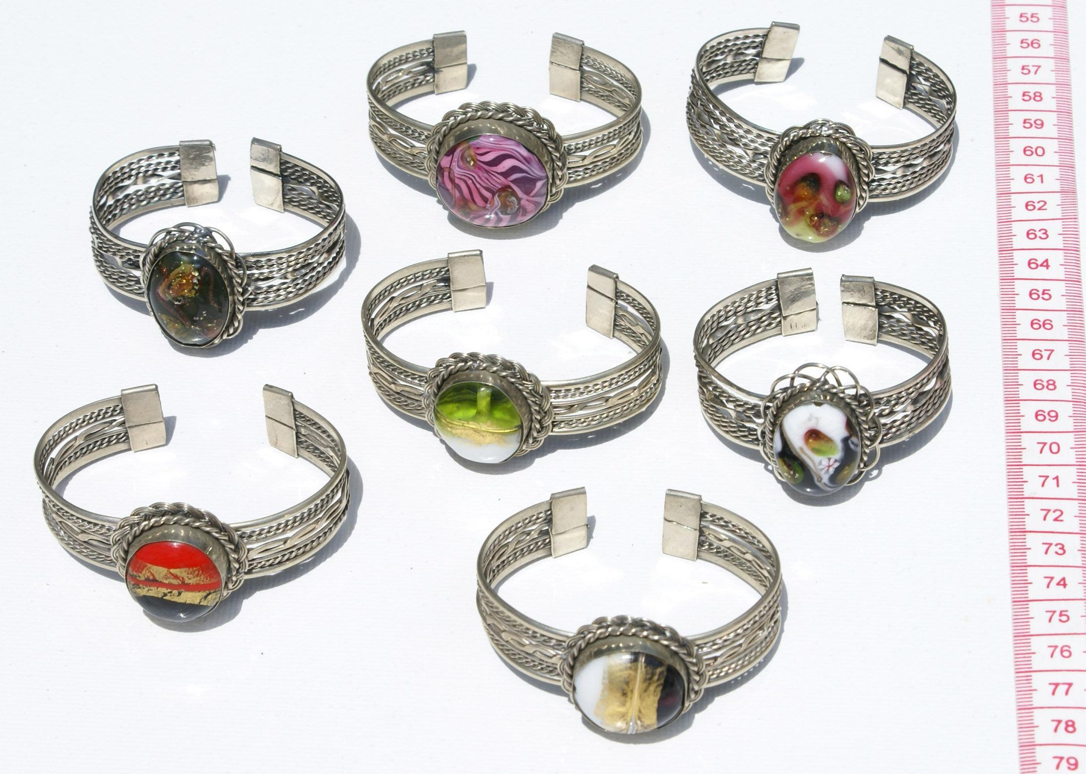 Lot 5 βραχιόλια βραχιολιών μανσετών εθνική περού πέτρες φθηνά κοσμήματα  πώληση 7a4140029b8