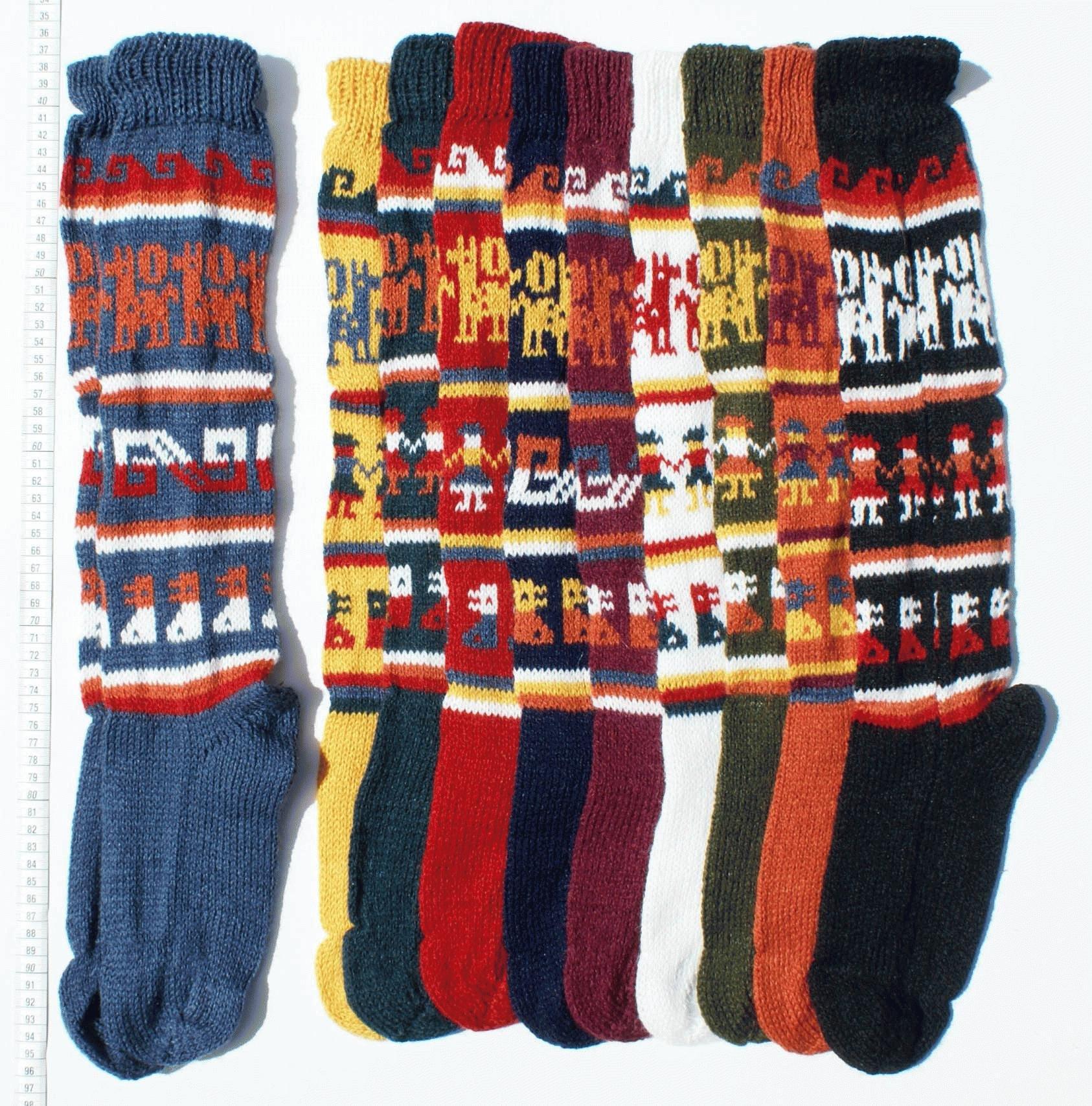 Πολύ 3 αλπακά νήματα από μαλλί χρωματιστές κάλτσες cd372f8f619
